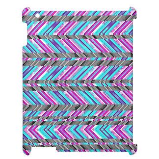 Colorful Trendy Chevron Zig Zag Geometric Pattern iPad Covers