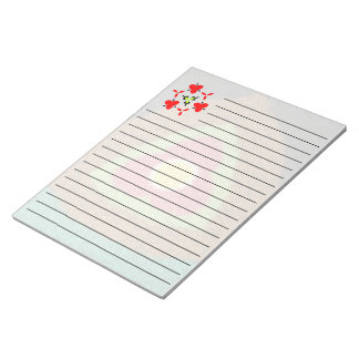 Colorful trendy cool unique modern pattern note pad