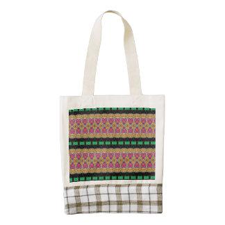 Colorful trendy modern pattern zazzle HEART tote bag