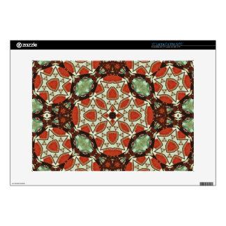 "Colorful trendy pattern 15"" laptop skin"