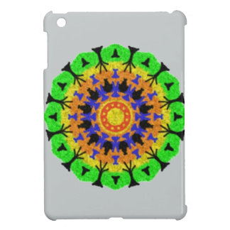 Colorful trendy pattern iPad mini case