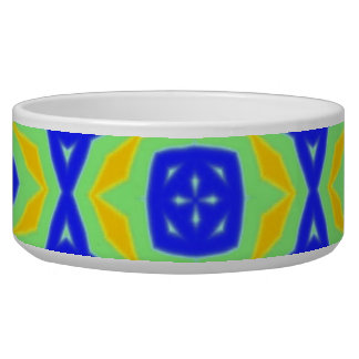 Colorful trendy pattern pet water bowl
