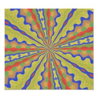 Colorful trendy pattern photo art