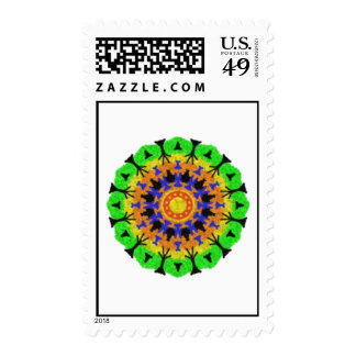 Colorful trendy pattern stamps