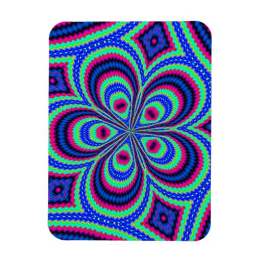 Colorful trendy pattern rectangular photo magnet