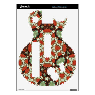 Colorful trendy pattern guitar hero decal