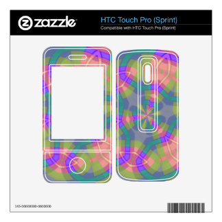Colorful trendy pattern HTC touch pro skin