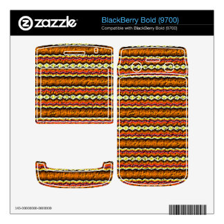 Colorful trendy pattern decals for BlackBerry