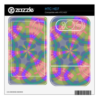 Colorful trendy pattern HTC HD7 skin