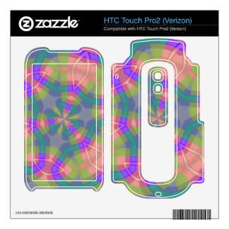 Colorful trendy pattern HTC touch pro2 skin