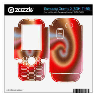 Colorful trendy pattern samsung gravity 2 skins