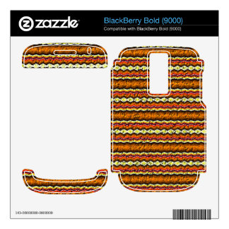 Colorful trendy pattern decal for BlackBerry bold