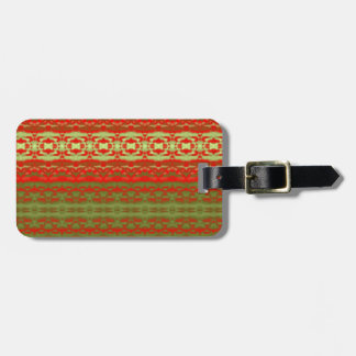 Colorful trendy pattern tag for luggage