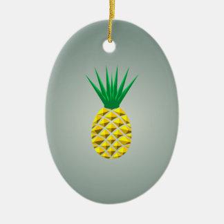 Colorful Trendy Pineapple Pattern Ceramic Ornament