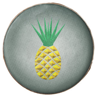 Colorful Trendy Pineapple Pattern Chocolate Dipped Oreo