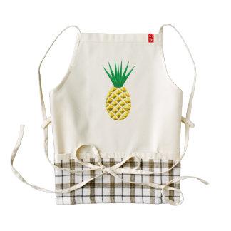 Colorful Trendy Pineapple Pattern Zazzle HEART Apron
