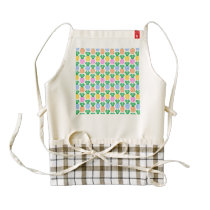 Colorful Trendy Pineapple Pattern Zazzle HEART Apron