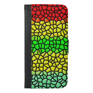 colorful trendy  stained glass iPhone 6/6s plus wallet case