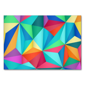 Colorful triangle abstract art card