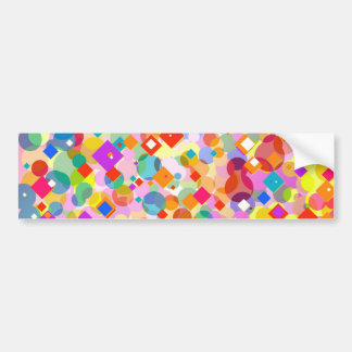 Colorful Triangle and Dot Pattern Bumper Sticker