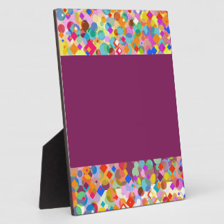Colorful Triangle and Dot Pattern Plaque