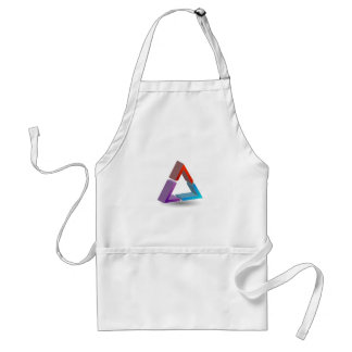 Colorful triangle adult apron
