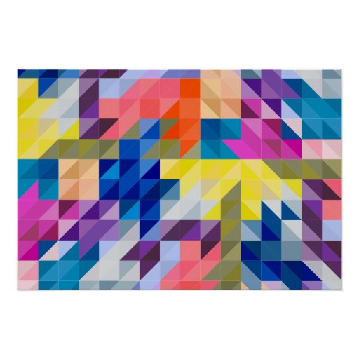 triangle colorful triangles art - photo #18