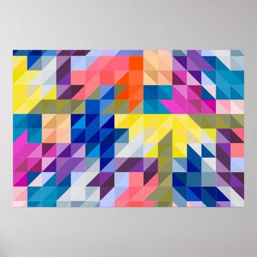 triangle colorful triangles art - photo #18