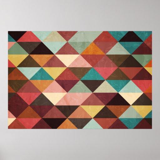 triangle colorful triangles art - photo #11
