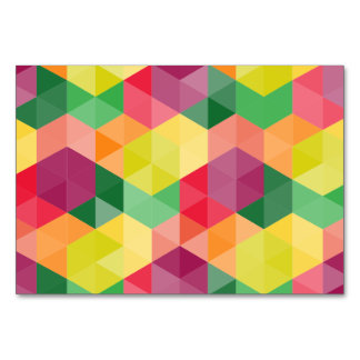Colorful triangle geometrical pattern card