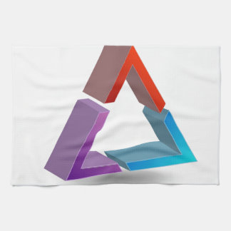 Colorful triangle kitchen towels