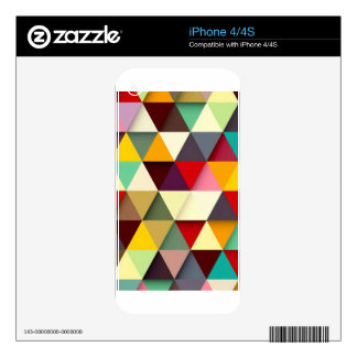 Colorful triangle mash-up decal for the iPhone 4S