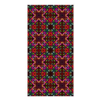 Colorful triangle mosaic card