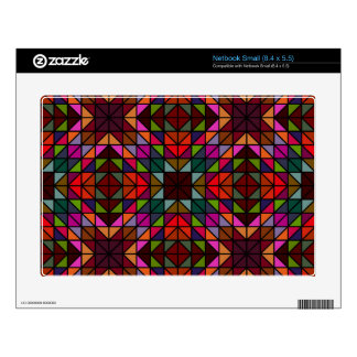 Colorful triangle mosaic decal for netbook