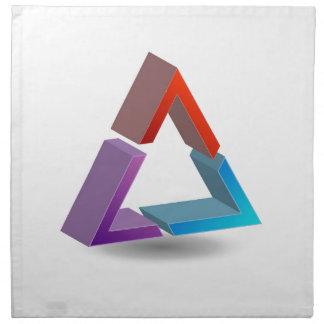 Colorful triangle printed napkin