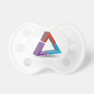 Colorful triangle pacifier