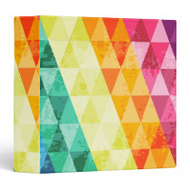 Colorful triangle pattern 3 ring binder