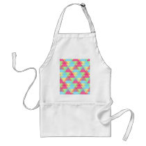 Colorful Triangle pattern Adult Apron