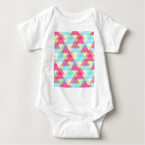 Colorful Triangle pattern Baby Bodysuit