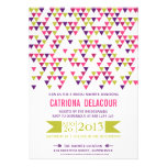 Colorful Triangle Pattern Bridal Shower Invitation