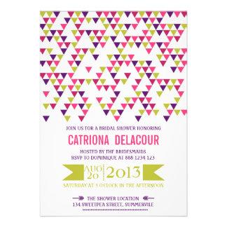 Colorful Triangle Pattern Bridal Shower Invitation
