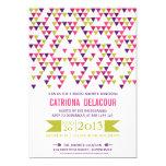 """Colorful Triangle Pattern Bridal Shower Invitation 5"""" X 7"""" Invitation Card"""