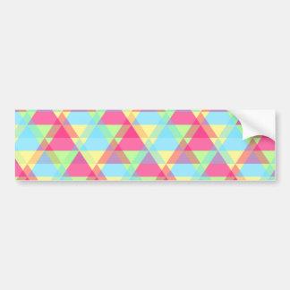 Colorful Triangle pattern Bumper Sticker