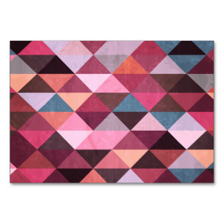 Colorful Triangle Pattern Card