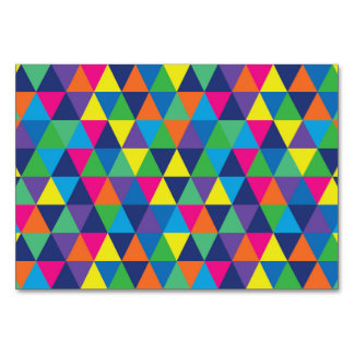 Colorful Triangle Pattern Design Card
