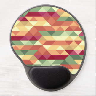 Colorful triangle pattern gel mouse pad