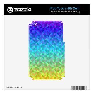 Colorful triangle pattern decals for iPod touch 4G