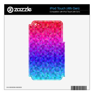 Colorful triangle pattern skins for iPod touch 4G