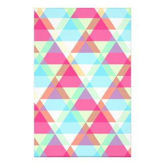 Colorful Triangle pattern Stationery