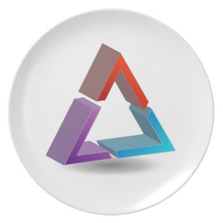 Colorful triangle party plate